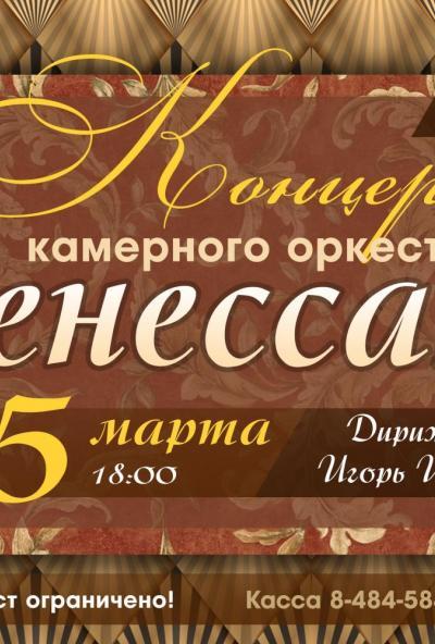 Afisha-go. Афиша мероприятий: Концерт камерного оркестра «Ренессанс»