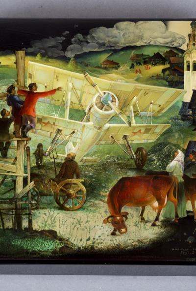 Afisha-go. Афиша мероприятий: Виртуальная лекция «О самолетах и не только в русской лаковой миниатюре»