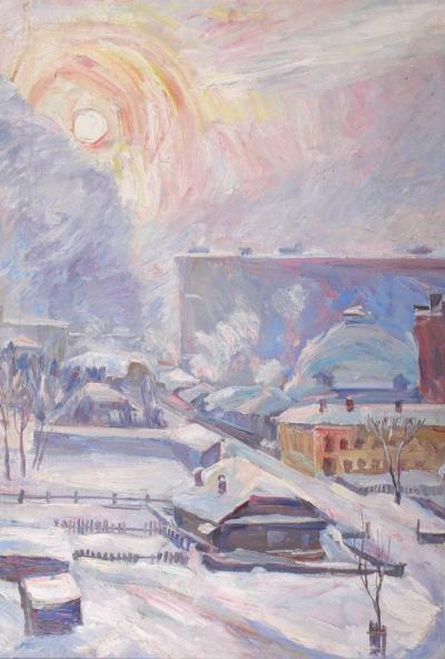 Afisha-go. Афиша мероприятий: Выставка живописи «Зимний пейзаж»