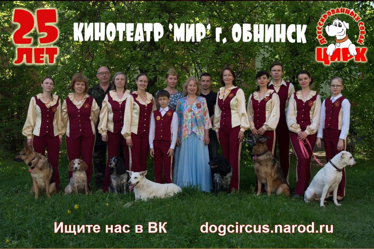 Афиша - Обнинск: Юбилейный концерт цирка дрессированных собак