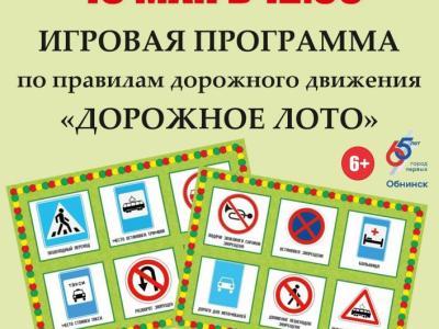 Afisha-go. Афиша мероприятий: Игровая программа «Дорожное лото»